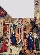 BROEDERLAM, Melchior The Annunciation and the Visitation d oil painting