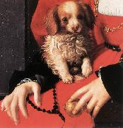 BRONZINO, Agnolo Portrait of a Lady with a Puppy (detail) fg oil painting picture wholesale