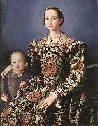 BRONZINO, Agnolo Eleonora of Toledo with her son Giovanni de  Medici oil painting picture wholesale