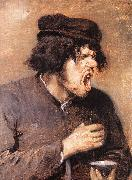 BROUWER, Adriaen The Bitter Draught d oil painting