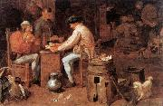 BROUWER, Adriaen The Card Players fd oil painting