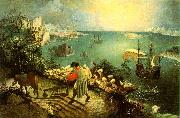 BRUEGEL, Pieter the Elder Landscape with the Fall of Icarus g oil painting picture wholesale