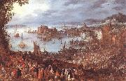 BRUEGHEL, Jan the Elder Great Fish-Market oil painting picture wholesale