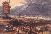 BRUEGHEL, Jan the Elder Landscape with Windmills fdg oil painting picture wholesale