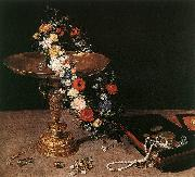 Still-Life with Garland of Flowers and Golden Tazza fdg