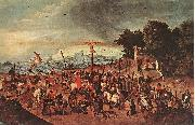 BRUEGHEL, Pieter the Younger Crucifixion dgg oil painting