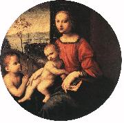BUGIARDINI, Giuliano Virgin and Child with the Infant St John the Baptist oil painting