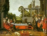 BUYTEWECH, Willem Banquet in the Open Air oil painting on canvas