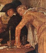 BUYTEWECH, Willem Merry Company (detail) oil painting