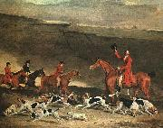 Benjamin Marshall Francis Dukinfield Astley and his Harriers oil painting