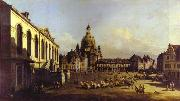 The New Market Square in Dresden.
