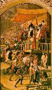 BERRUGUETE, Pedro The Court of Inquisition Chaired by St. Dominic oil painting picture wholesale