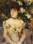 Berthe Morisot Young Woman in Evening Dress oil painting picture wholesale