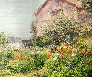 Bicknell, Frank Alfred Miss Florence Griswold's Garden oil painting