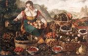 CAMPI, Vincenzo The Fruit Seller oil painting