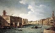 CANAL, Bernardo The Grand Canal with the Fabbriche Nuove at Rialto oil painting