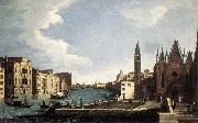 CANAL, Bernardo The Grand Canal with the Church of La Carita ff oil painting