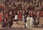 CARLEVARIS, Luca The Reception of Cardinal Cesar d Estrees (detail) oil painting picture wholesale