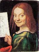 CAROTO, Giovanni Francesco Read-headed Youth Holding a Drawing oil painting