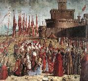 CARPACCIO, Vittore The Pilgrims Meet the Pope (detail) kk oil painting picture wholesale