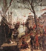 CARPACCIO, Vittore The Arrival of the Pilgrims in Cologne d oil painting picture wholesale