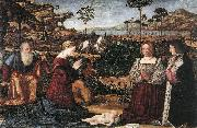 CARPACCIO, Vittore Holy Family with Two Donors oil painting picture wholesale