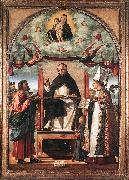 CARPACCIO, Vittore St Thomas in Glory between St Mark and St Louis of Toulouse dfg oil painting picture wholesale