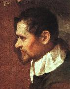 CARRACCI, Annibale Self-Portrait in Profile sdf oil painting picture wholesale