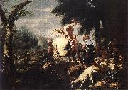 CASTIGLIONE, Giovanni Benedetto Meeting of Isaac and Rebecca fg oil painting picture wholesale