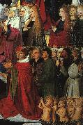 CHARONTON, Enguerrand The Coronation of the Virgin, detail: the crowd iyu oil painting