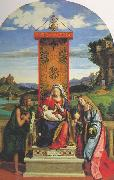 The Madonna and Child with St John the Baptist and Mary Magdalen dfg