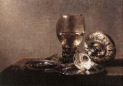 CLAESZ, Pieter Still-life with Wine Glass and Silver Bowl dsf oil painting picture wholesale