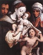 CLEVE, Cornelis van Holy Family dfgh oil painting