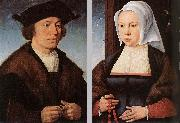 CLEVE, Joos van Portrait of a Man and Woman dfg oil painting