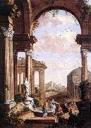 COCK, Paul de Landscape with Roman Ruins oil painting