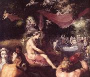 CORNELIS VAN HAARLEM The Wedding of Peleus and Thetis (detail) dfg oil painting picture wholesale