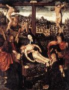 CORNELISZ VAN OOSTSANEN, Jacob Crucifixion with Donors and Saints fdg oil painting picture wholesale