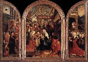 CORNELISZ VAN OOSTSANEN, Jacob Triptych of the Adoration of the Magi fd oil painting picture wholesale
