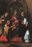 CORNELISZ VAN OOSTSANEN, Jacob The Mystic Marriage of St. Catherine dfg oil painting picture wholesale