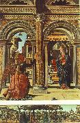 COSSA, Francesco del Annunciation and Nativity (Altarpiece of Observation) df oil painting