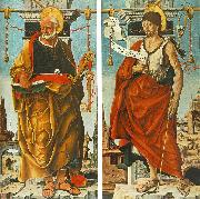 COSSA, Francesco del St Peter and St John the Baptist (Griffoni Polyptych) drg oil painting