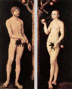 CRANACH, Lucas the Elder Adam and Eve 01 oil painting picture wholesale