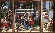CRANACH, Lucas the Elder Altarpiece of the Holy Family dsf oil painting picture wholesale