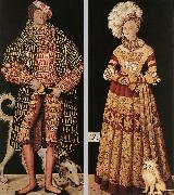 CRANACH, Lucas the Elder Portraits of Henry the Pious, Duke of Saxony and his wife Katharina von Mecklenburg dfg oil painting picture wholesale