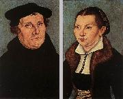 Portraits of Martin Luther and Catherine Bore dfg