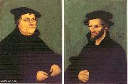 CRANACH, Lucas the Elder Portraits of Martin Luther and Philipp Melanchthon y oil painting picture wholesale
