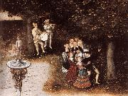 CRANACH, Lucas the Elder The Fountain of Youth (detail) dyj oil painting picture wholesale