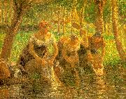 Camille Pissaro Washerwoman, Eragny sur Epte oil painting picture wholesale