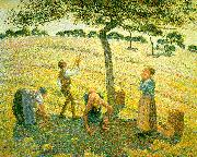 Camille Pissaro Apple Picking at Eragny sur Epte oil painting picture wholesale