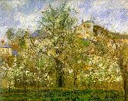 Kitchen Garden with Trees in Flower, Pontoise